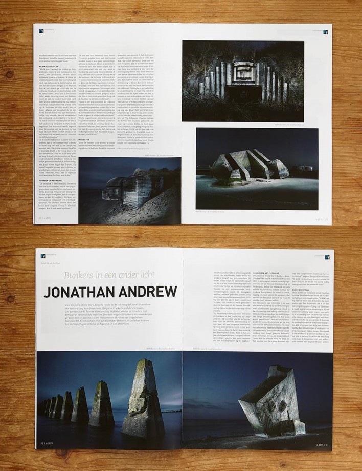 """Bunkers in een ander licht"" an interview with Jonathan Andrew"
