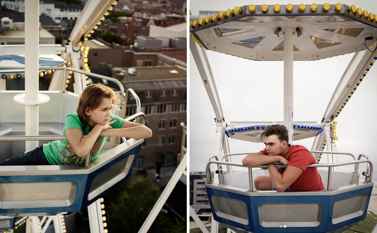 Tara followed this carnival boy Louis Vallentgoed when he was still a child. 7 years later she went back.