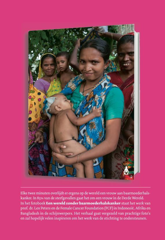 """Book """"Een wereld zonder baarmoederhalskanker"""" photography by Chantal spieard"""